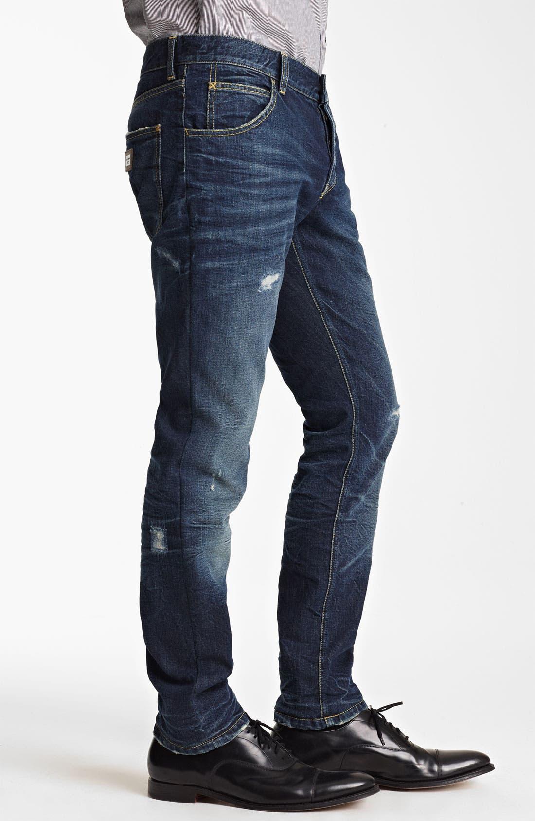 Alternate Image 3  - Dolce&Gabbana Slim Fit Jeans (Dark Blue)