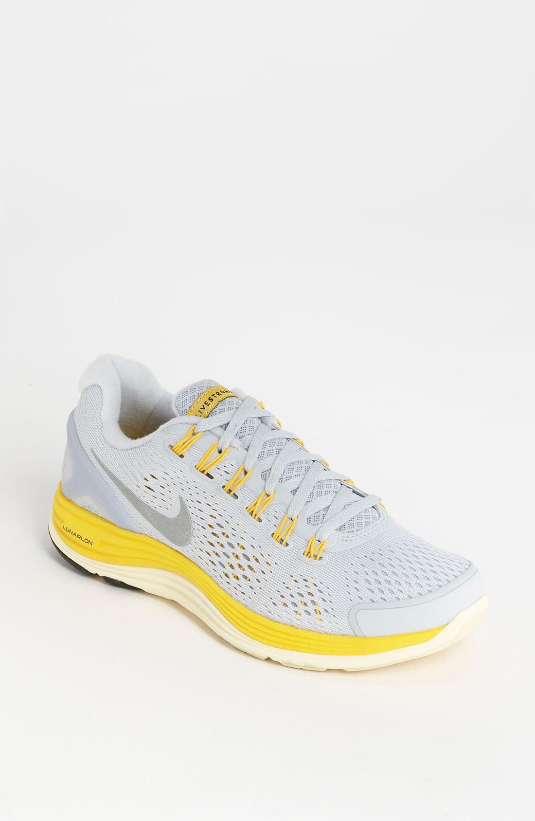 Alternate Image 1 Selected - Nike 'LunarGlide 4 Livestrong' Running Shoe (Women)