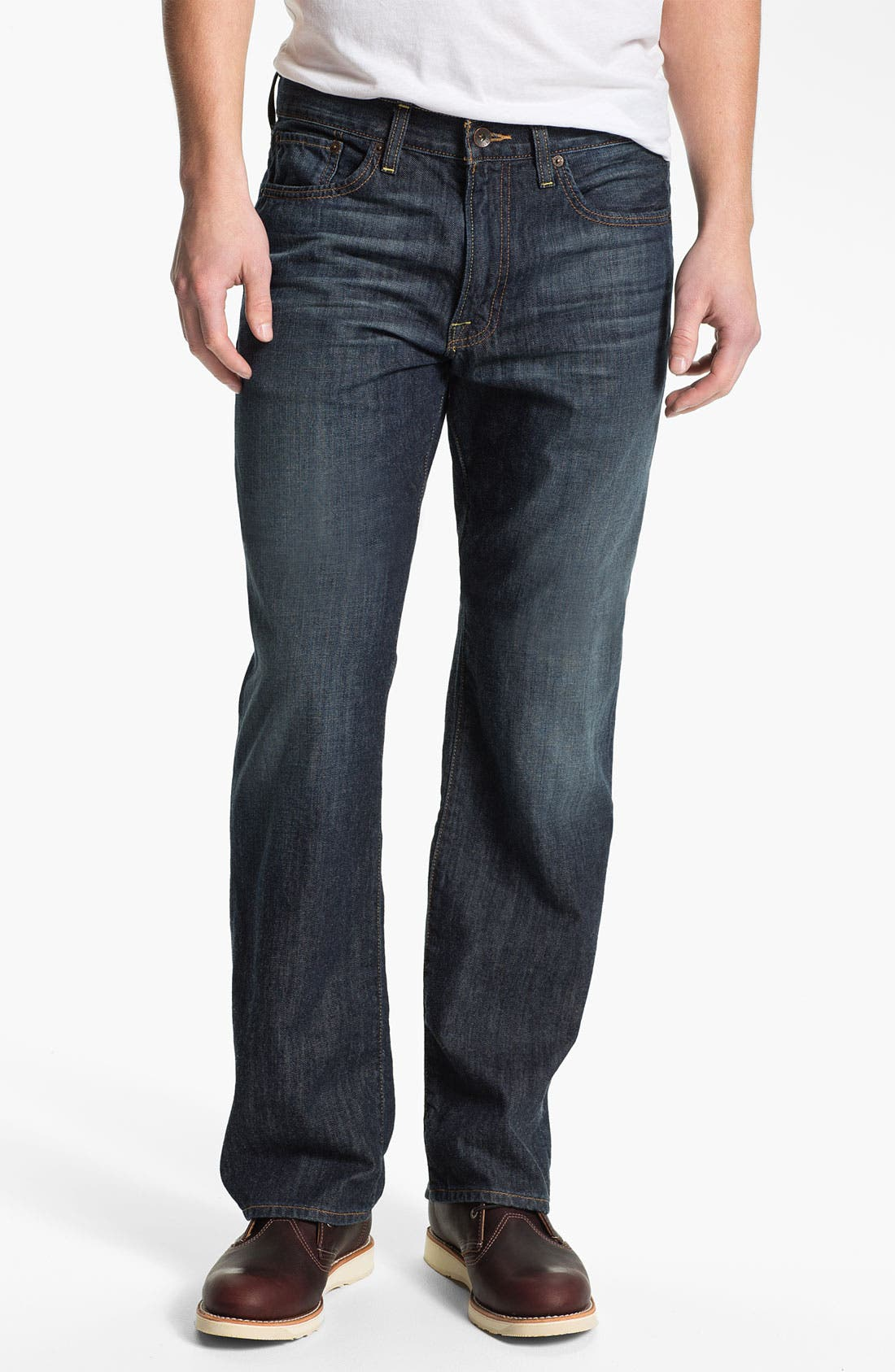 Main Image - Lucky Brand '361 Vintage' Straight Leg Jeans (Dark Bordeaux)