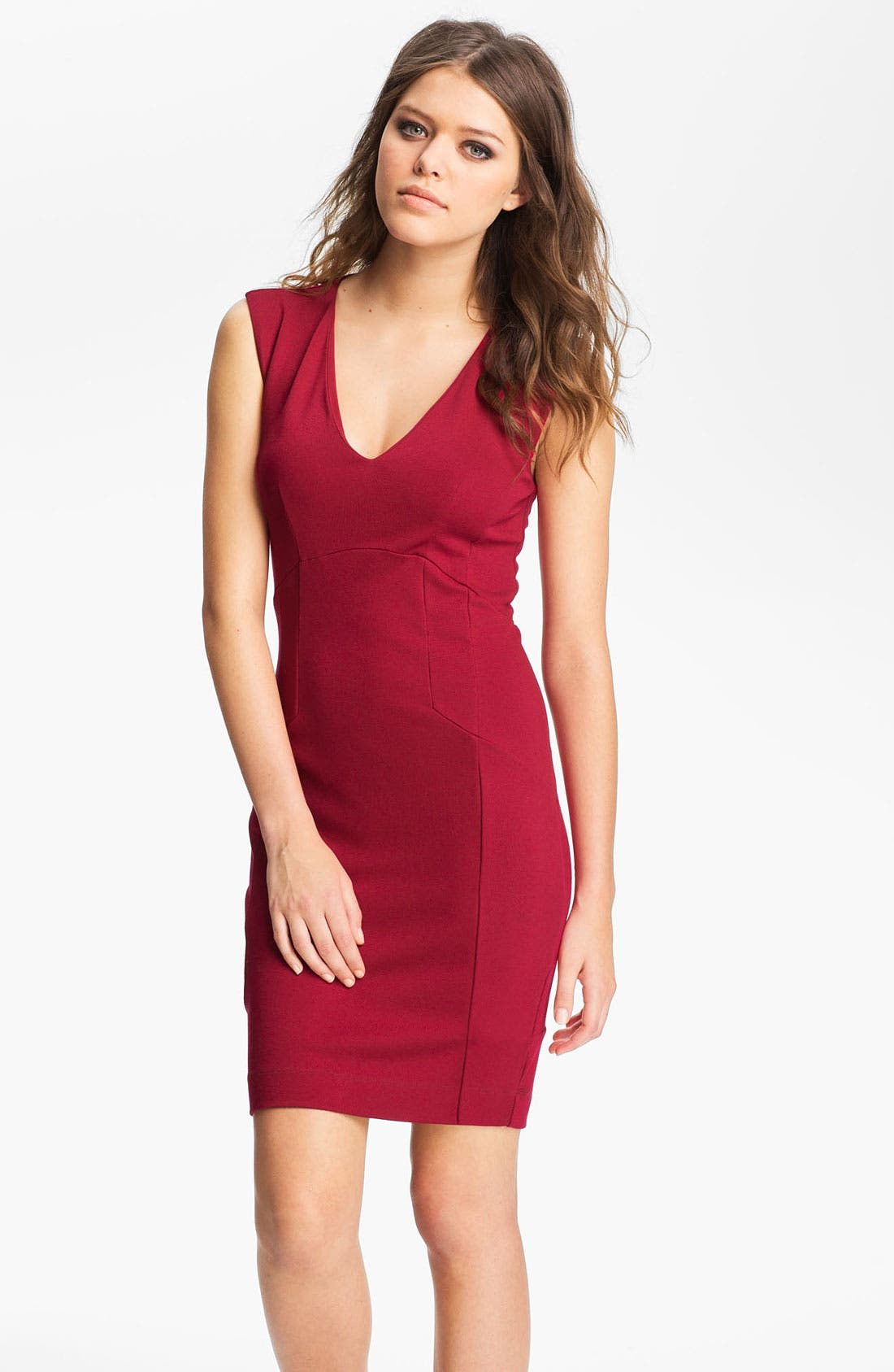 Alternate Image 1 Selected - French Connection 'Classic Annie' V-Neck Ponte Sheath Dress