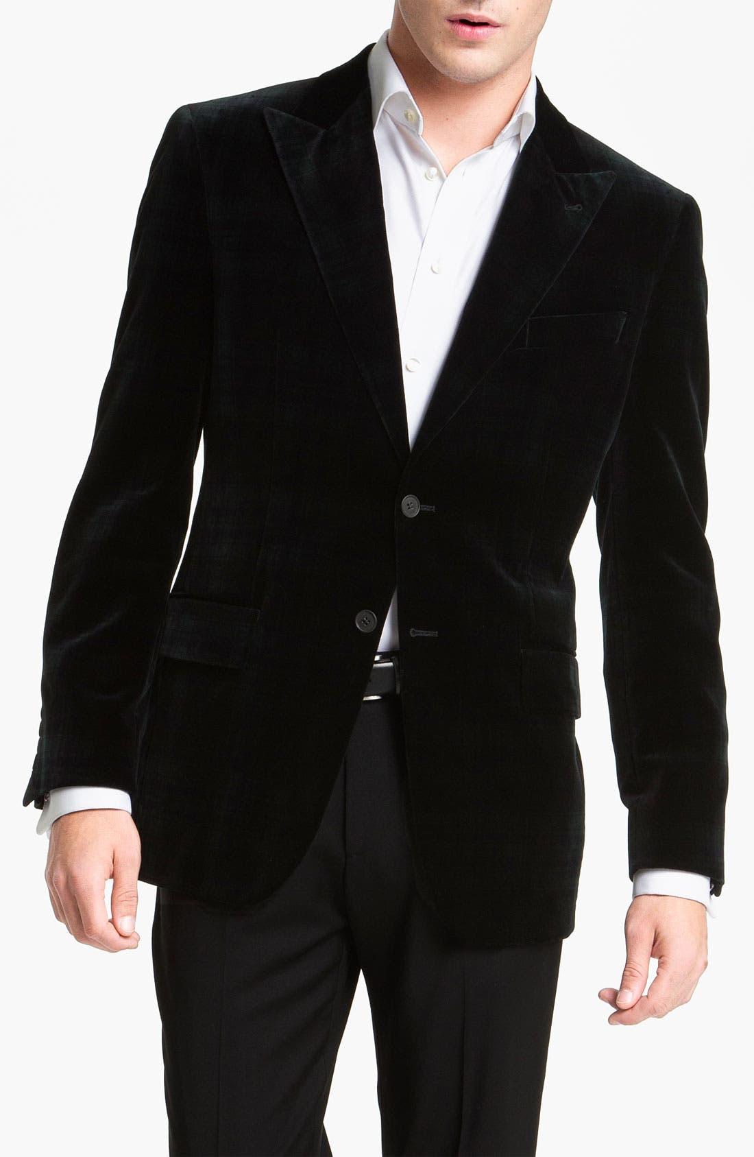 Alternate Image 1 Selected - Joseph Abboud Plaid Velvet Blazer