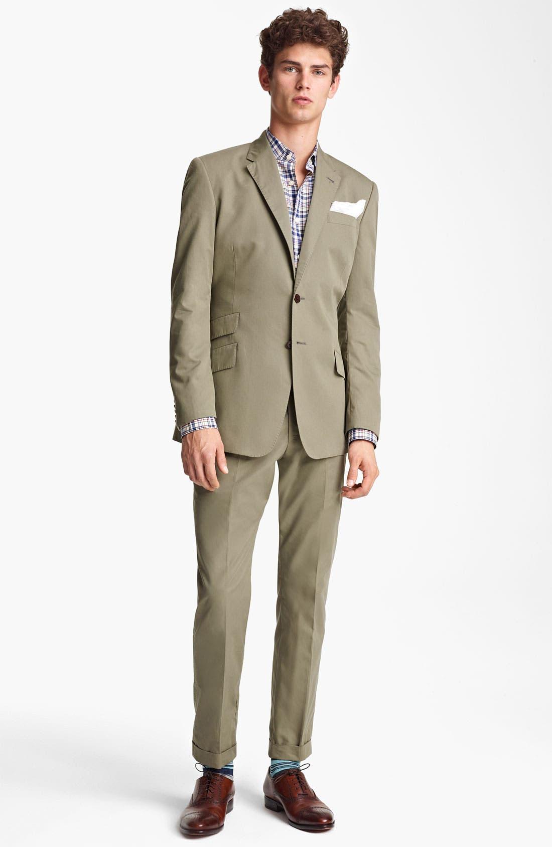 Alternate Image 2  - Paul Smith London Slim Fit Cotton Suit