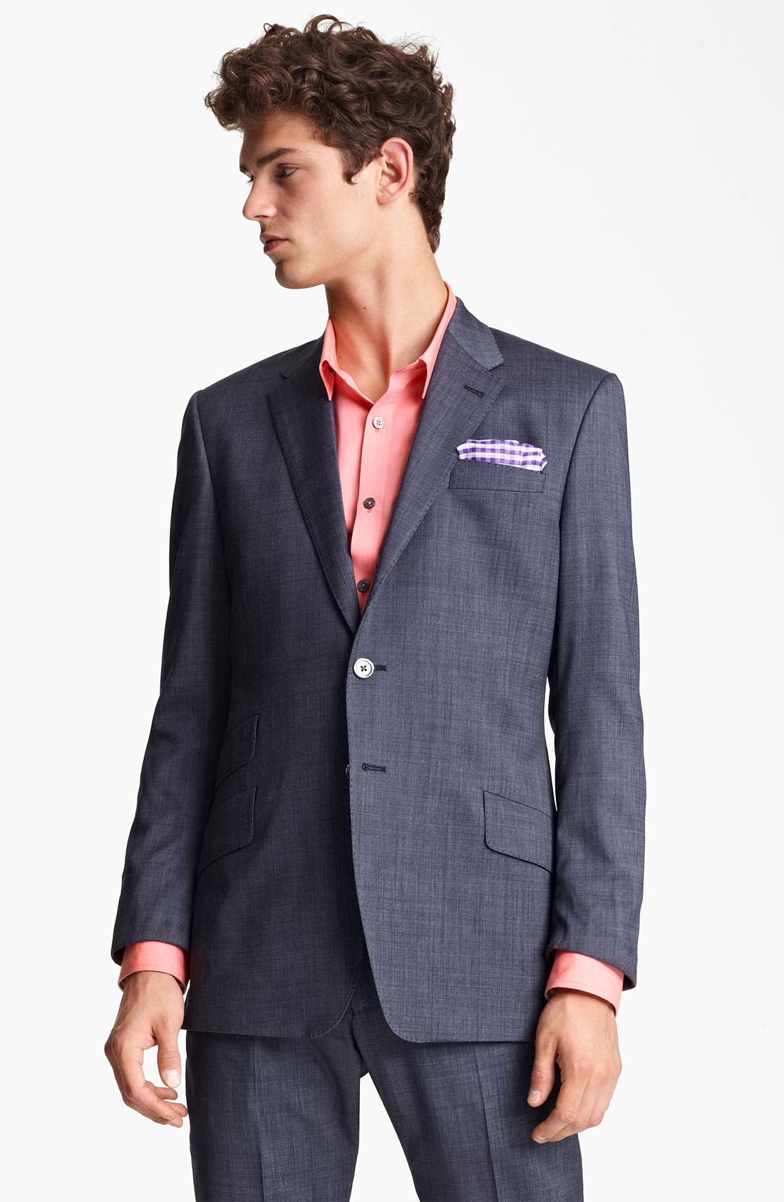 Alternate Image 1 Selected - Paul Smith London Slim Fit Wool & Cotton Suit