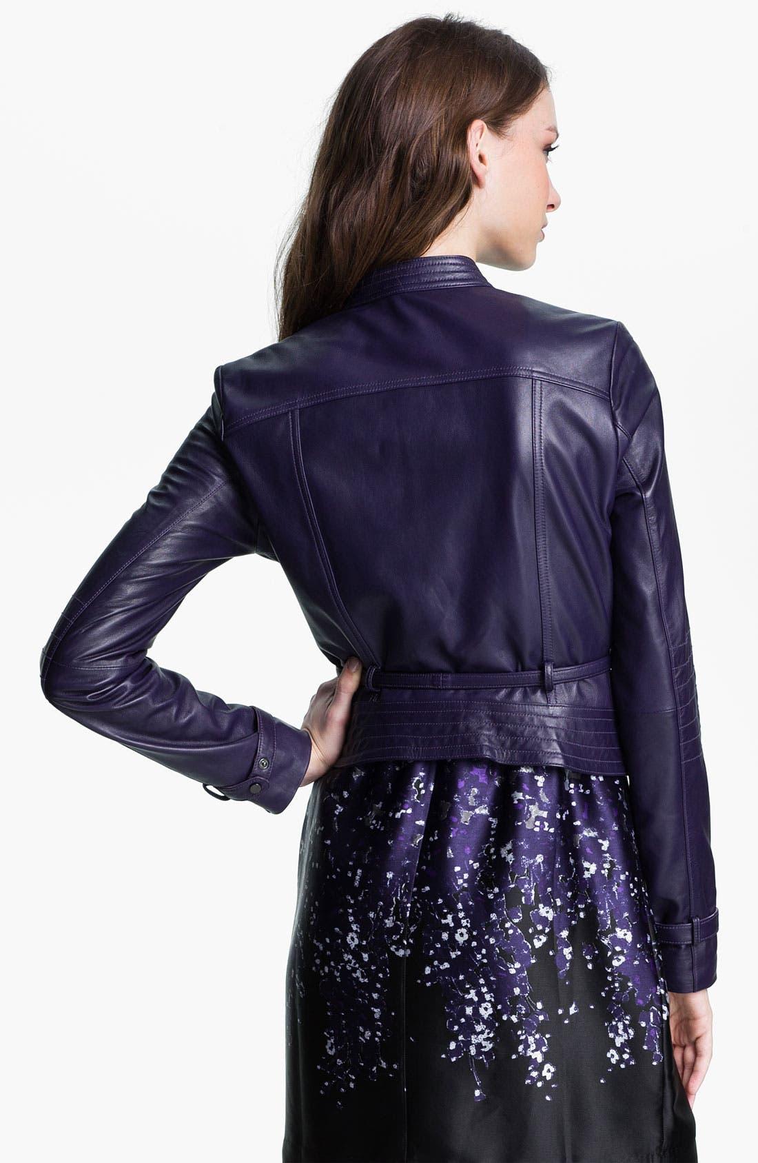 Alternate Image 2  - Kenneth Cole New York 'Maria' Metallic Leather Jacket