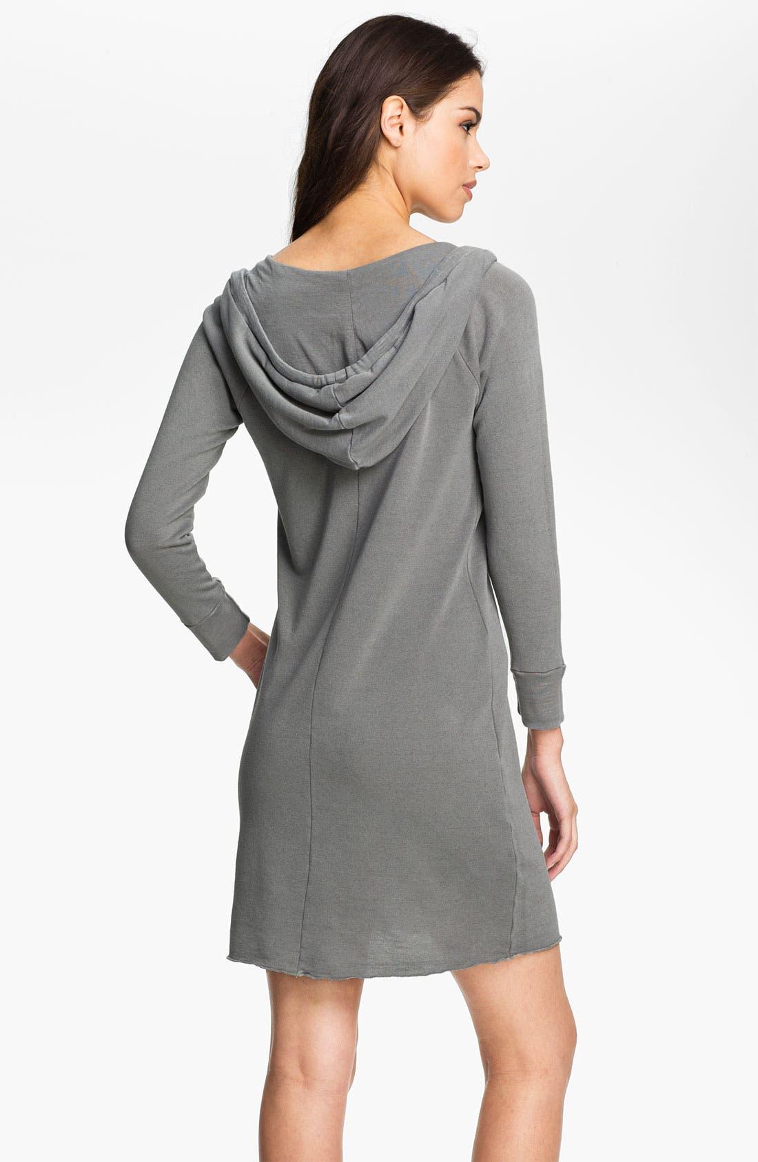 Alternate Image 2  - James Perse Hooded Sweatshirt Dress