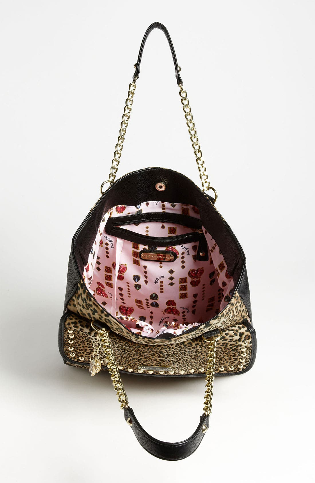 Alternate Image 3  - Betsey Johnson Mixed Cheetah Print Tote