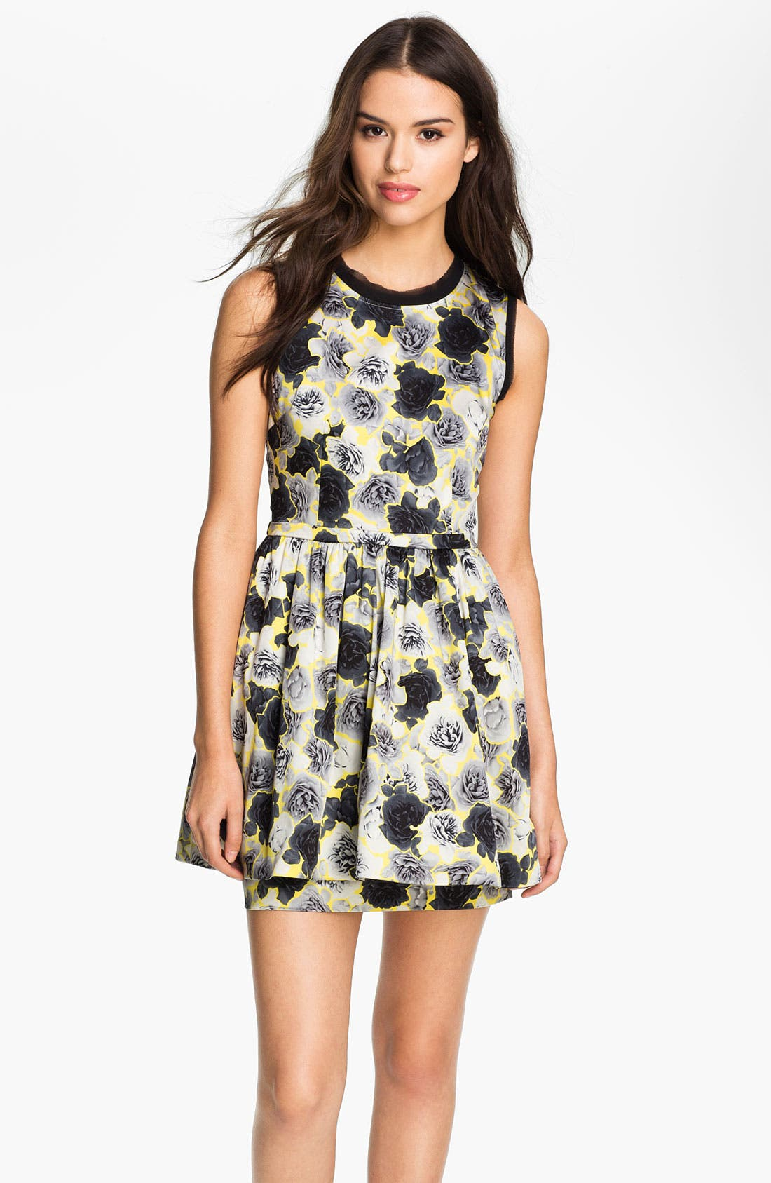 Main Image - Juicy Couture Floral Frilly Dress