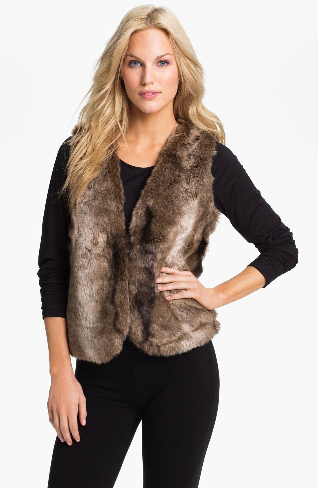 Alternate Image 1 Selected - PJ Luxe Faux Fur Vest