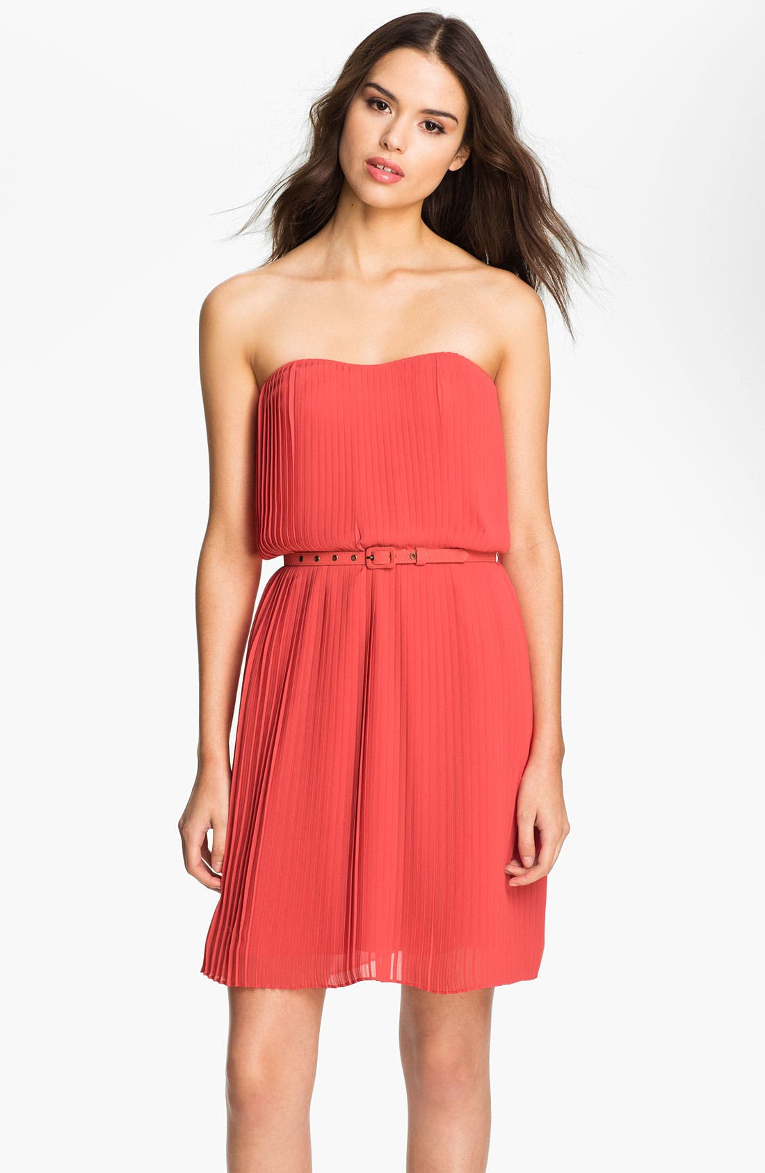 Alternate Image 1 Selected - Felicity & Coco Strapless Pleated Chiffon Dress (Nordstrom Exclusive)