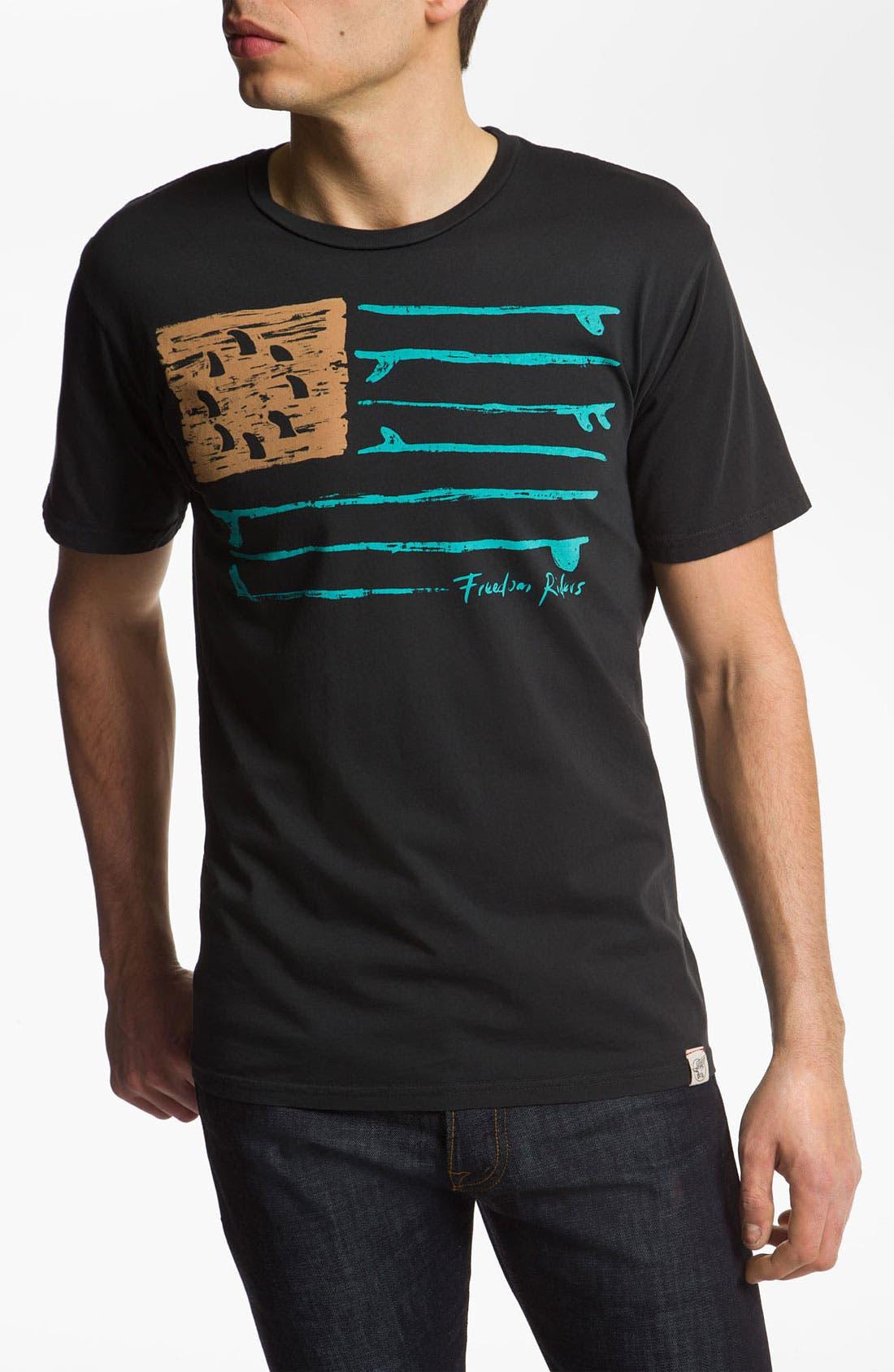Alternate Image 1 Selected - Iron & Resin 'Freedom Flag' Screenprint T-Shirt