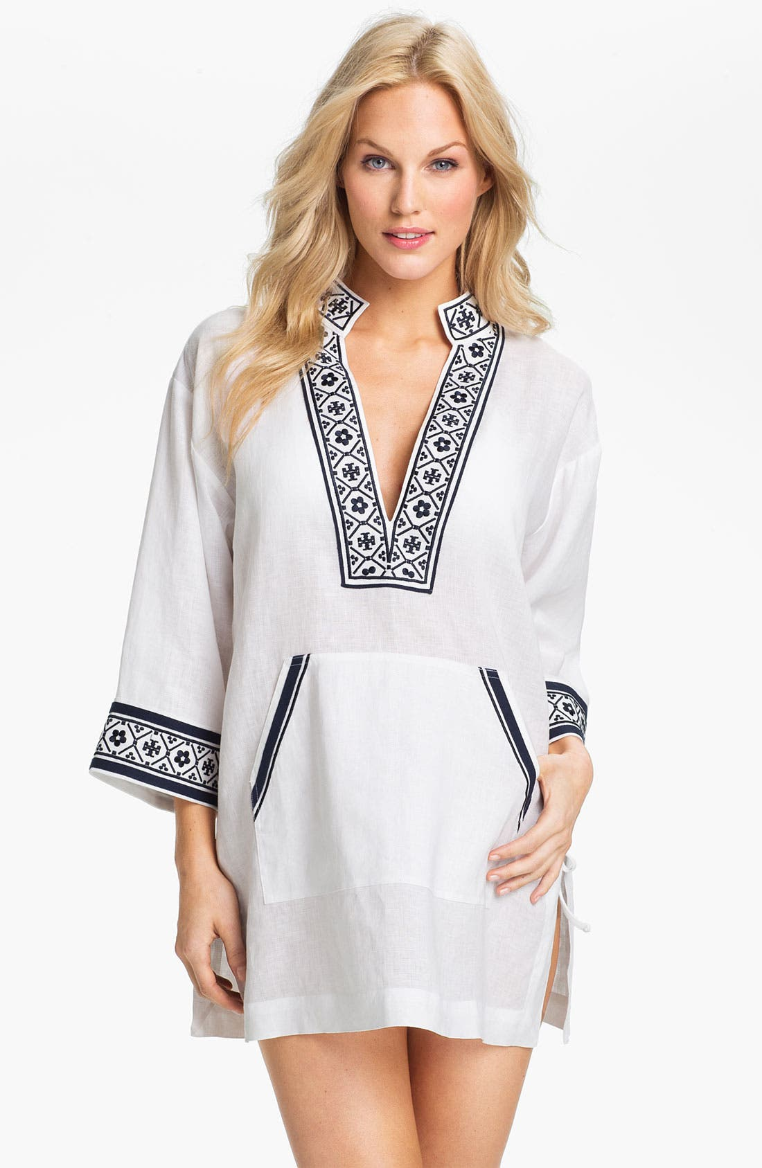 Alternate Image 1 Selected - Tory Burch Linen Tunic Cover-Up
