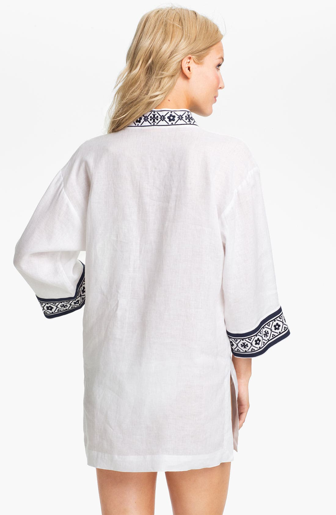Alternate Image 2  - Tory Burch Linen Tunic Cover-Up