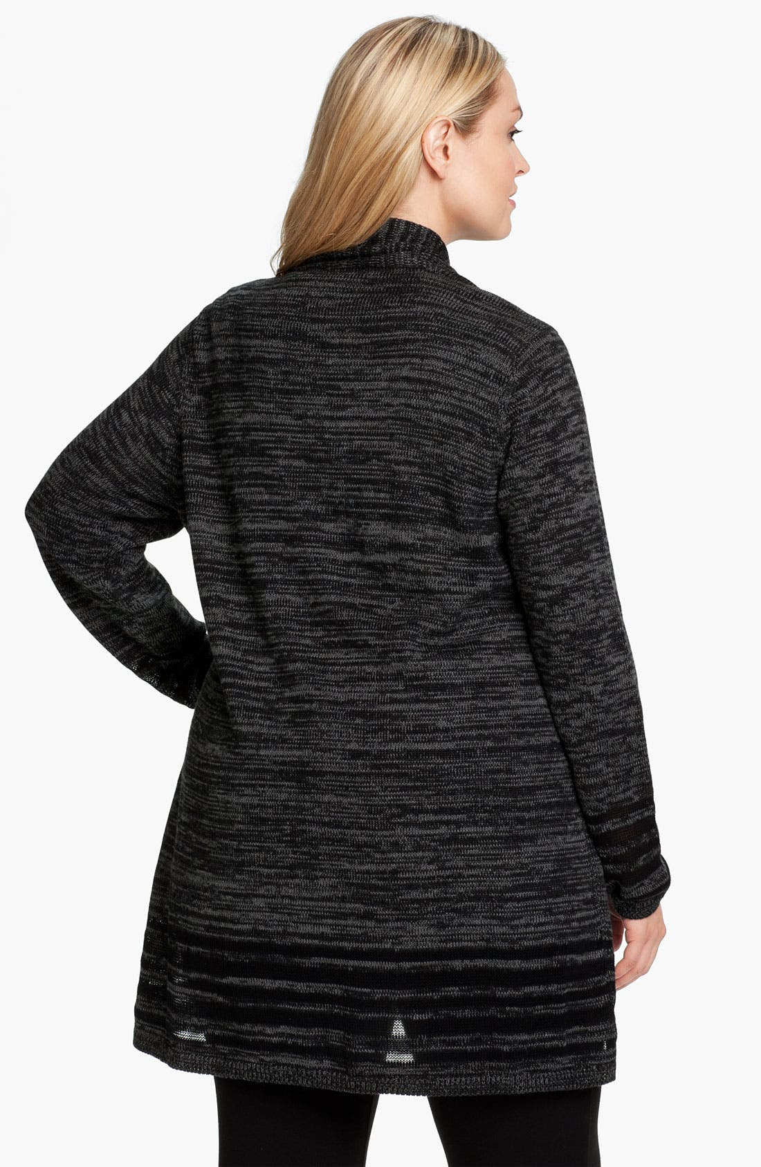 Alternate Image 2  - Eileen Fisher Angled Front Cardigan (Plus)