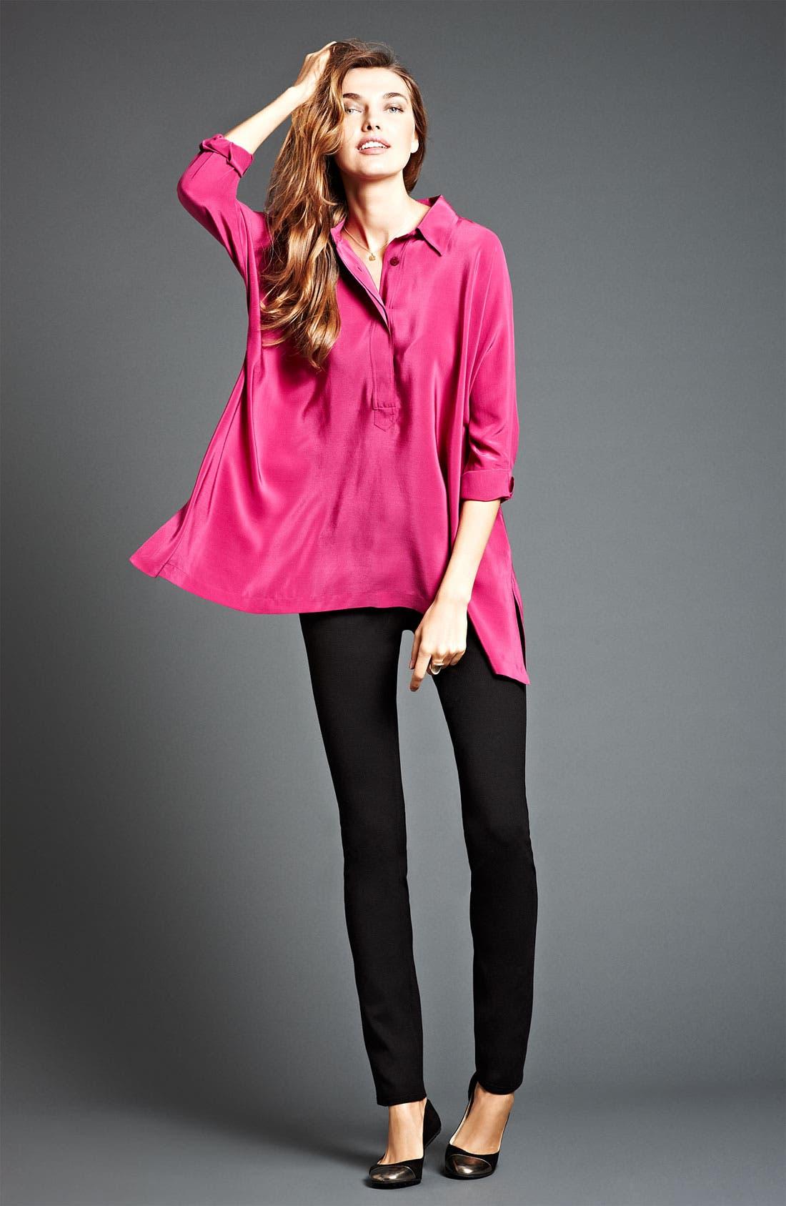 Alternate Image 2  - Eileen Fisher Boxy Silk Shirt