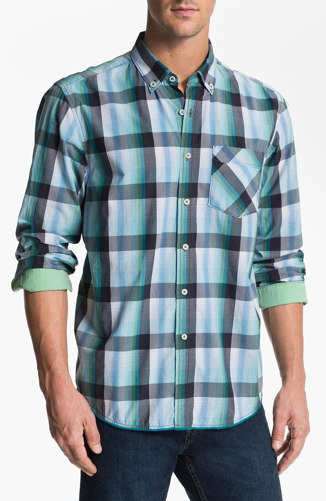 Alternate Image 1 Selected - Tommy Bahama Denim 'Plane to Train' Sport Shirt