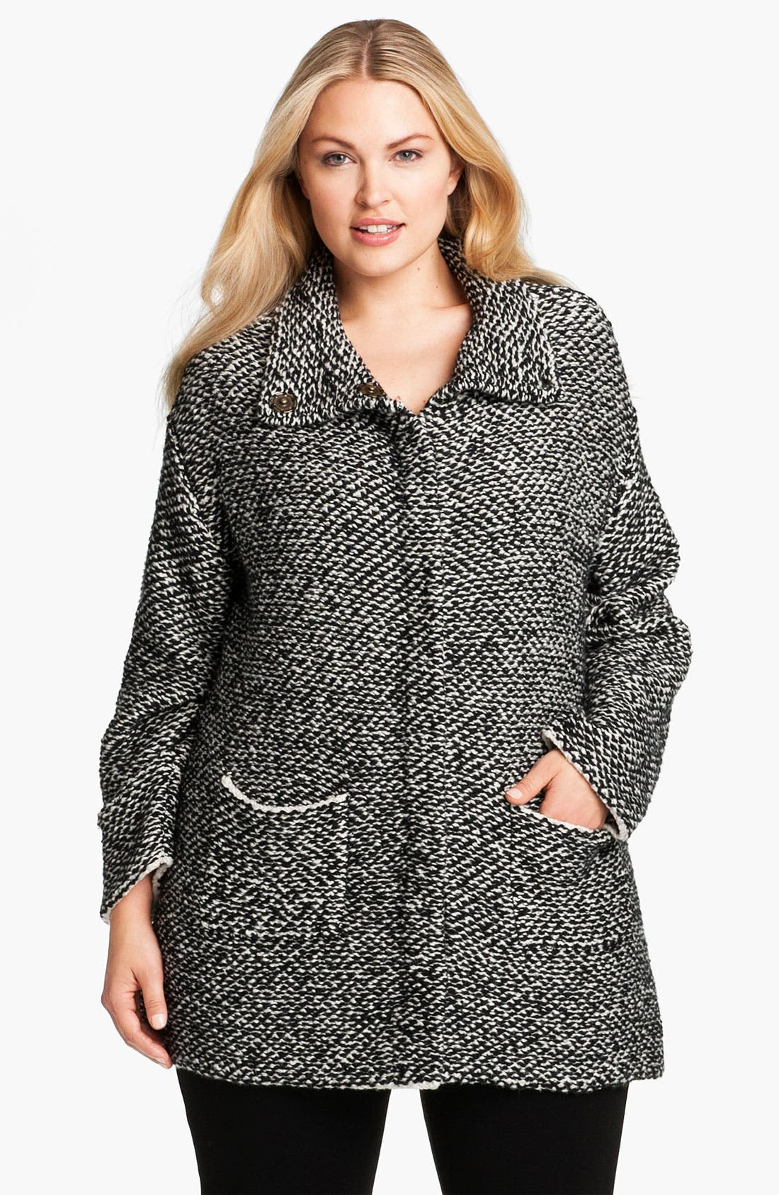 Alternate Image 1 Selected - Eileen Fisher Organic Cotton Jacket (Plus)
