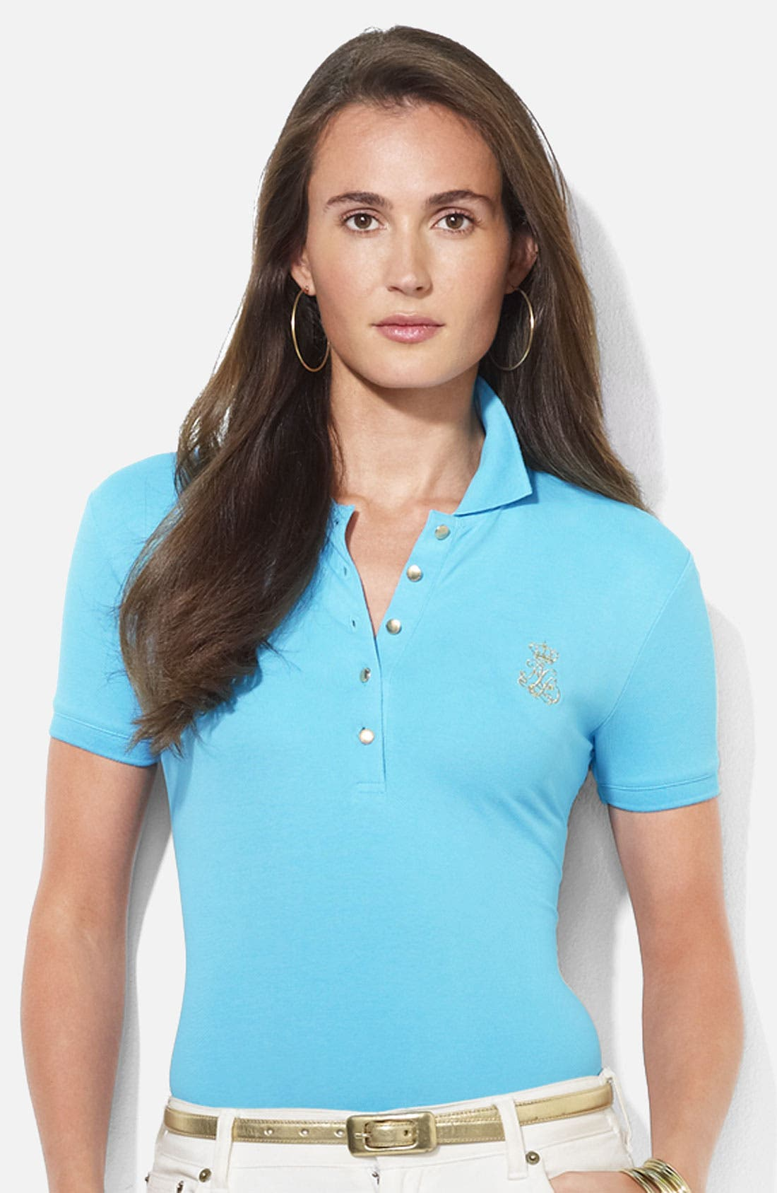 Alternate Image 1 Selected - Lauren Ralph Lauren Embroidered Polo