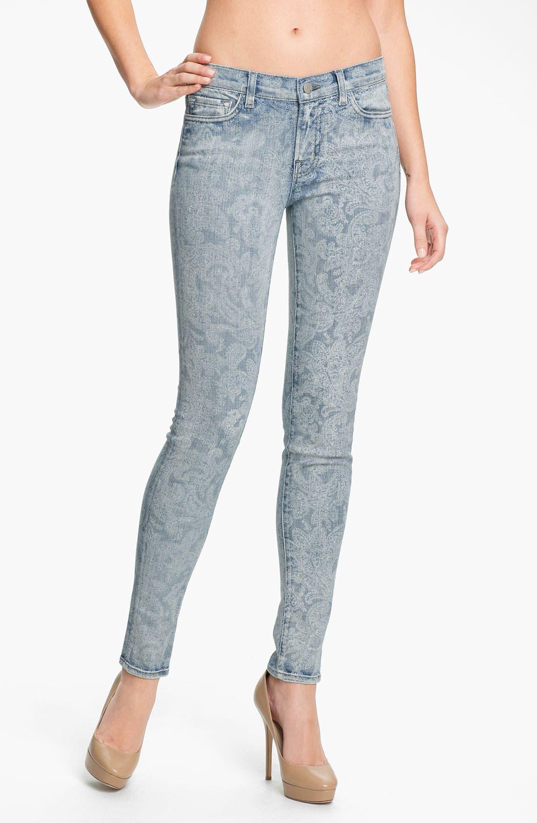 Main Image - J Brand Print Skinny Leg Jeans (Vintage Bandana)