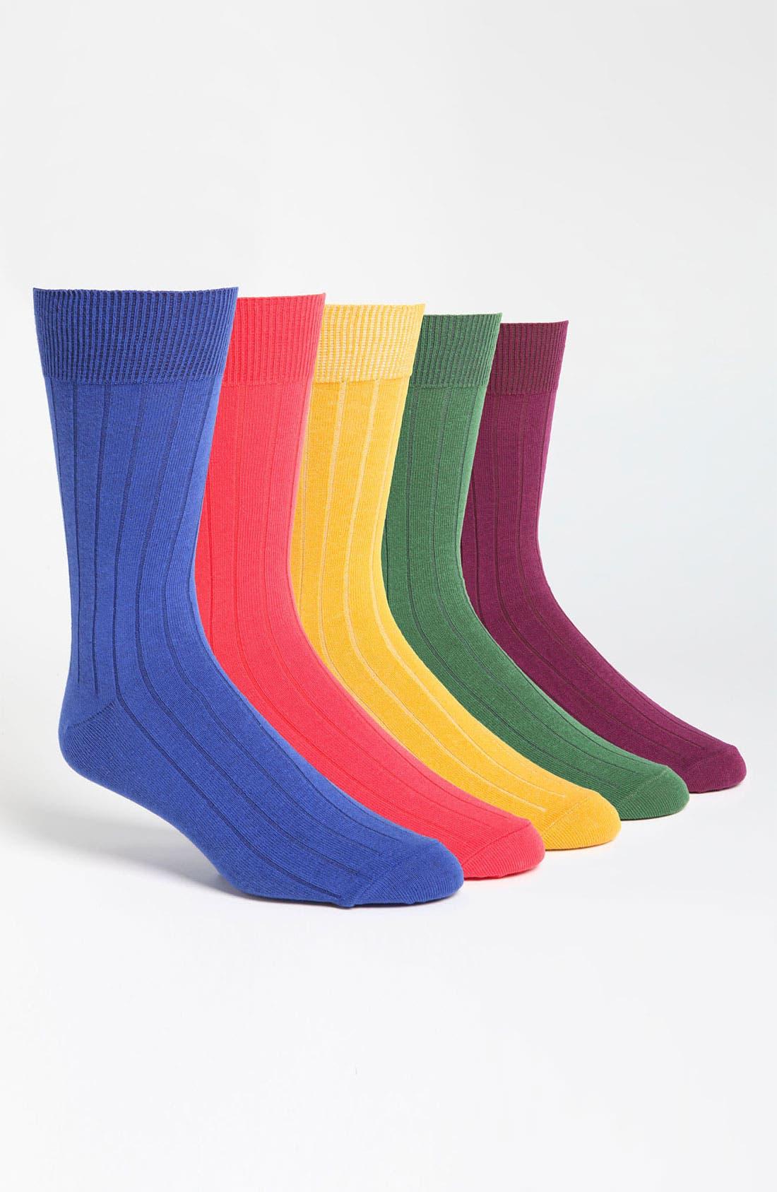 Alternate Image 1 Selected - Topman 'Navarro' Socks (Set of 5)
