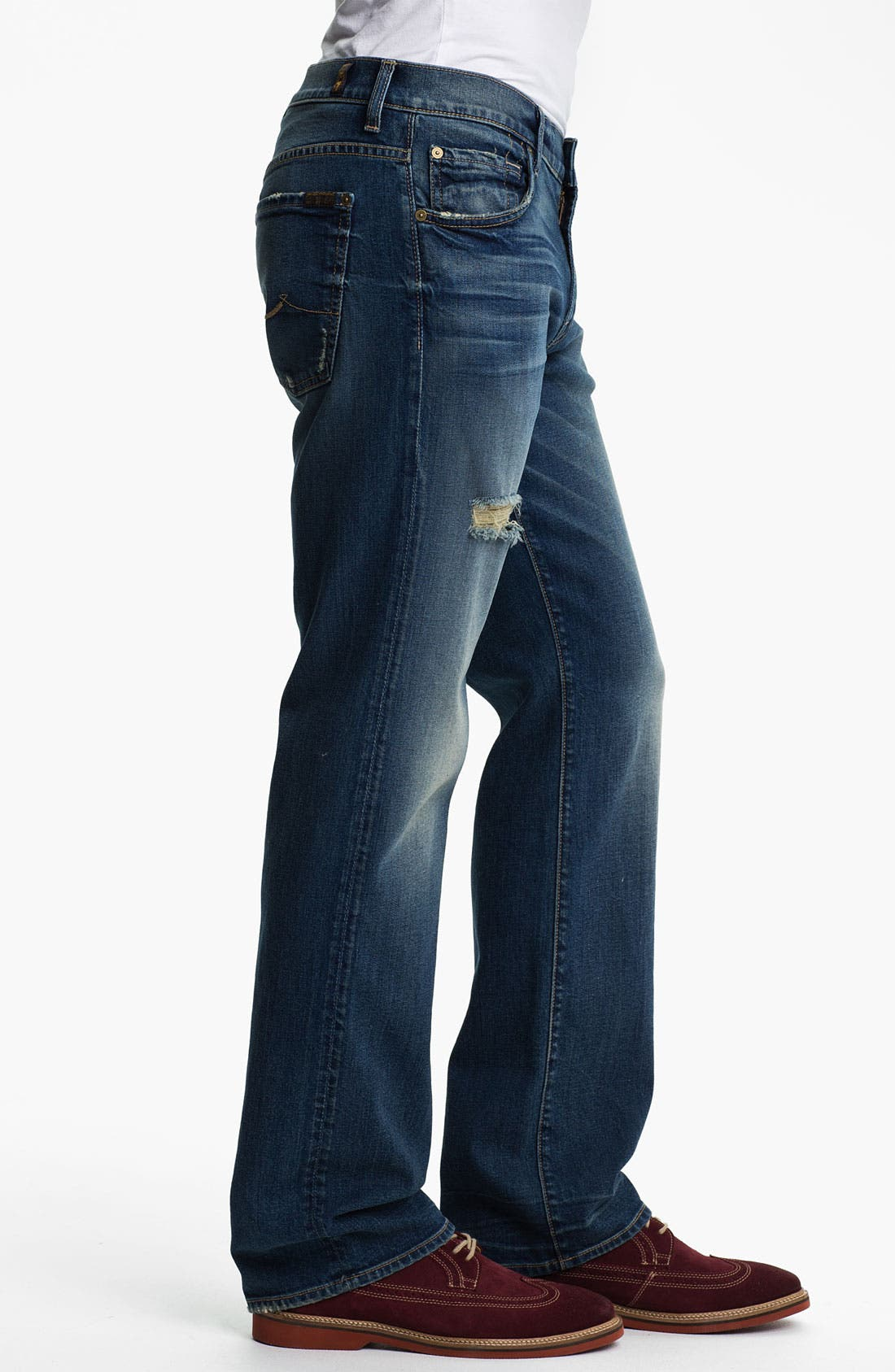 Alternate Image 3  - 7 For All Mankind® 'Austyn' Relaxed Straight Leg Jeans (Ocean Mist)