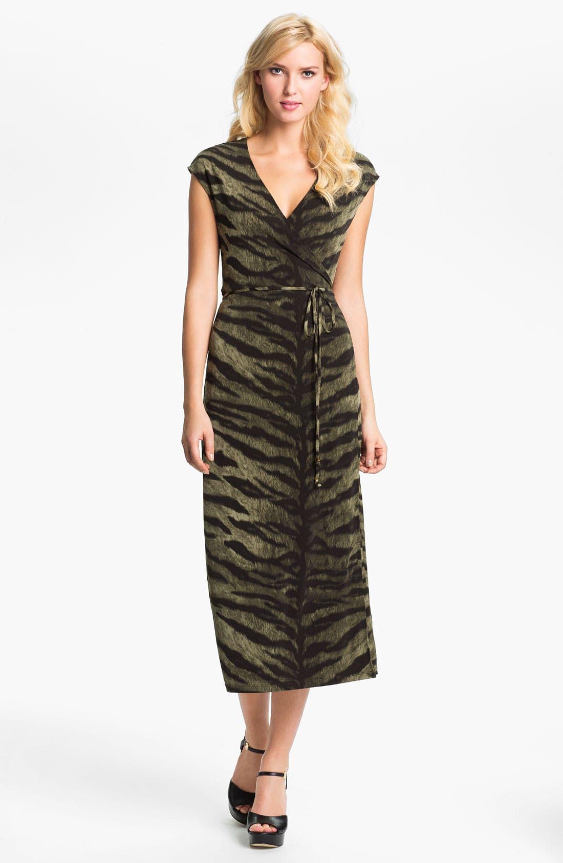 Alternate Image 1 Selected - MICHAEL Michael Kors Tiger Print Wrap Dress