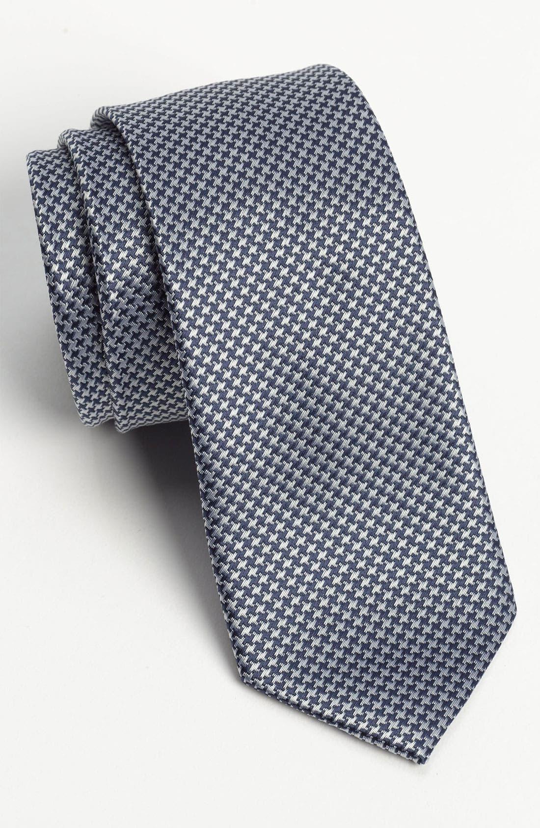 Main Image - Topman Houndstooth Woven Tie