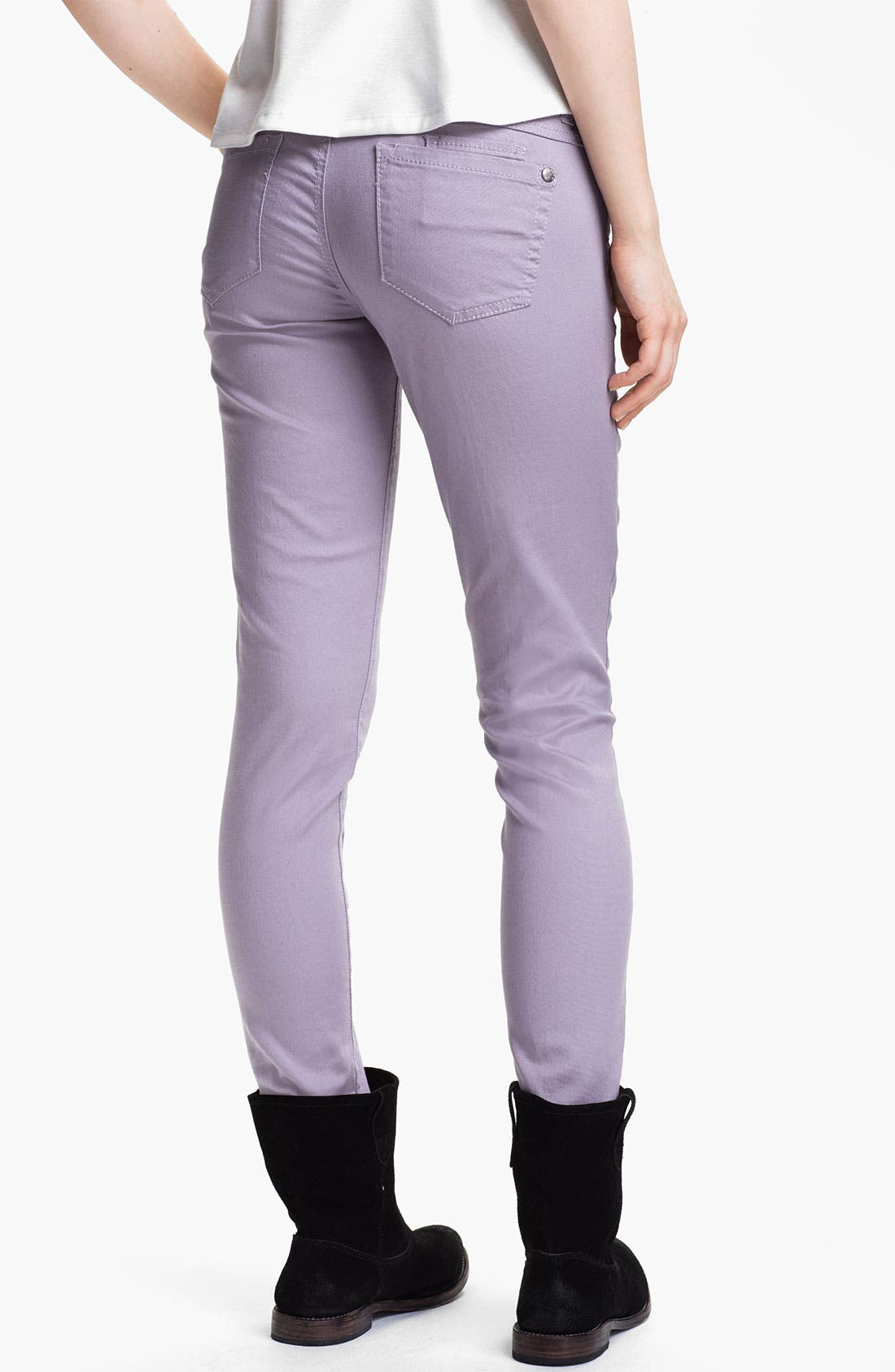 Alternate Image 1 Selected - Jolt Colored Stretch Denim Skinny Jeans (Juniors)