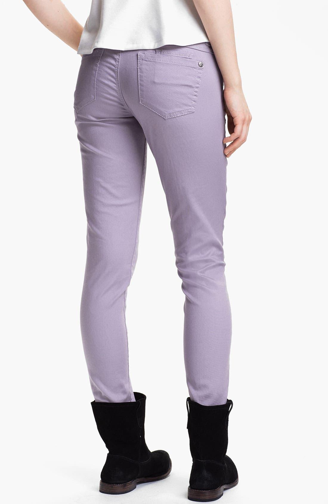 Main Image - Jolt Colored Stretch Denim Skinny Jeans (Juniors)