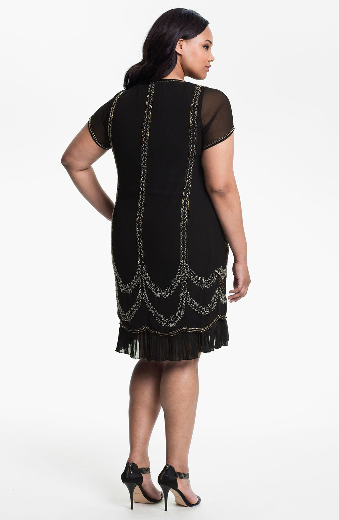 Alternate Image 2  - Evans Beaded Shift Dress (Plus Size)