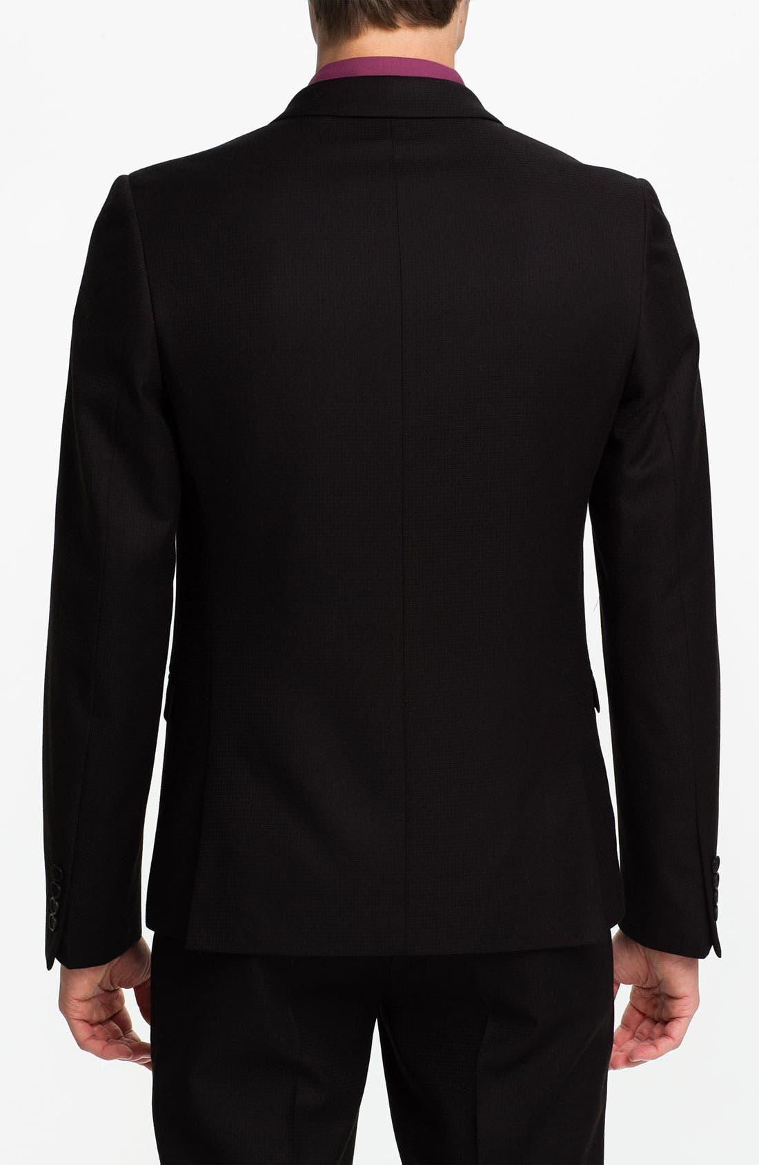 Alternate Image 2  - Topman Grid Check Double Breasted Tuxedo Jacket