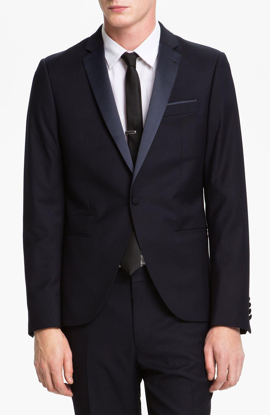 Main Image - Topman Skinny Fit Single-Button Tuxedo Jacket