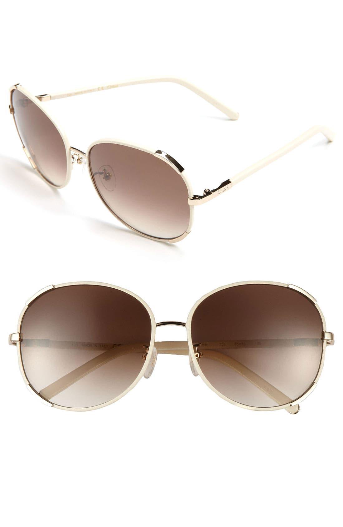 Alternate Image 1 Selected - Chloé 60mm Retro Sunglasses