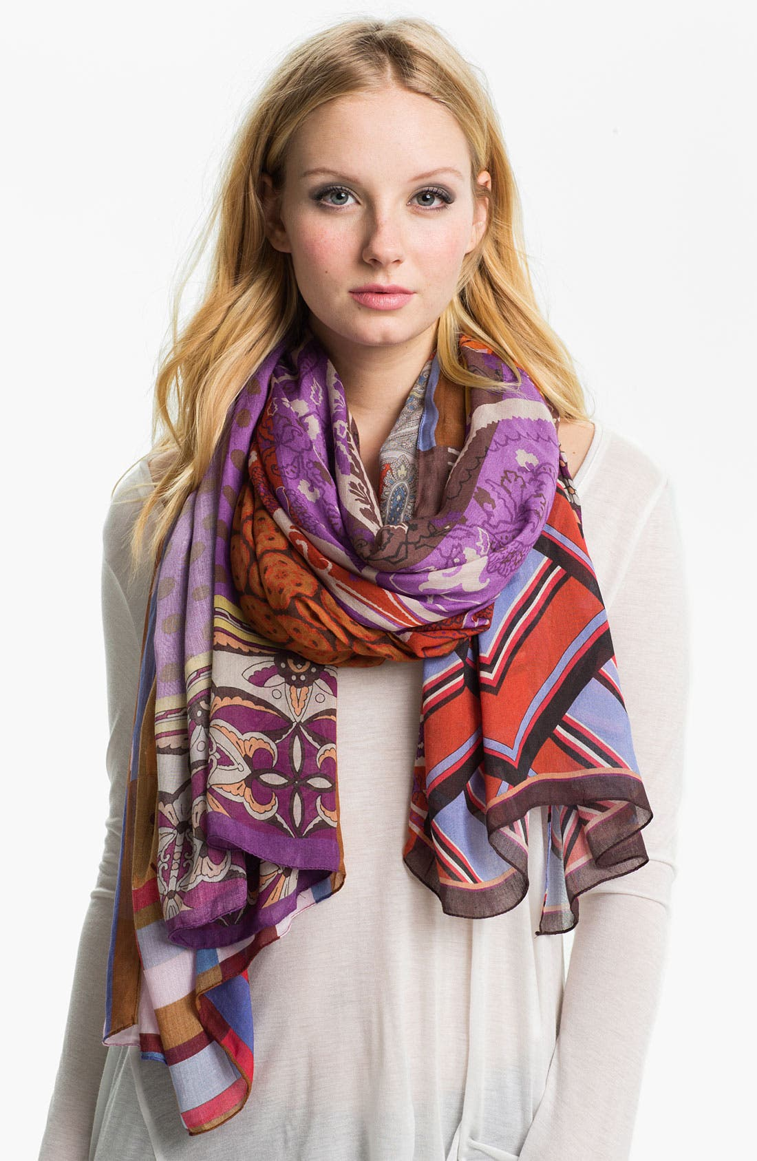 Alternate Image 1 Selected - Chelsey Paisley Scarf
