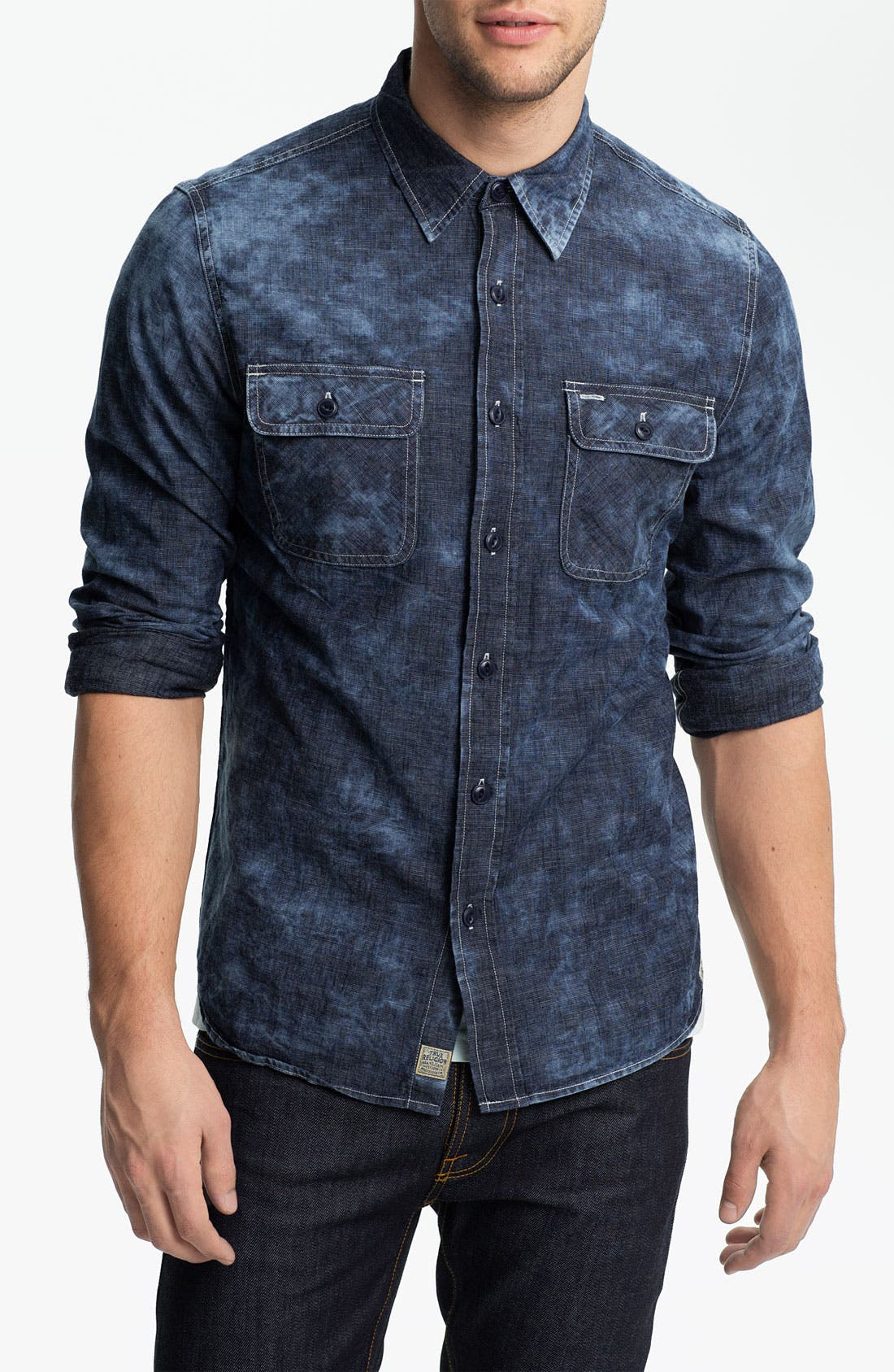 Alternate Image 1 Selected - True Religion Brand Jeans Workwear Denim Shirt