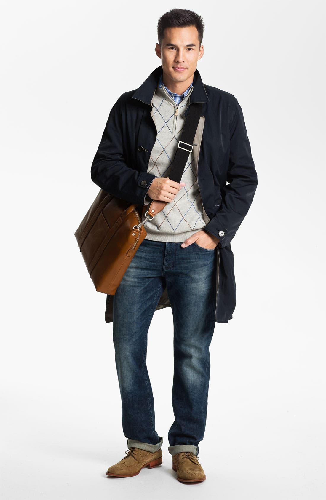 Alternate Image 4  - Peter Millar Quarter Zip Cotton & Cashmere Sweater Vest