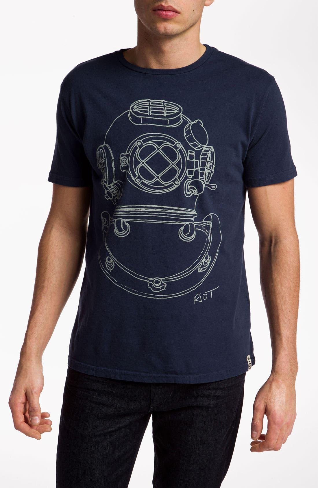 Main Image - Sub_Urban Riot 'Diver Helmet' Graphic T-Shirt