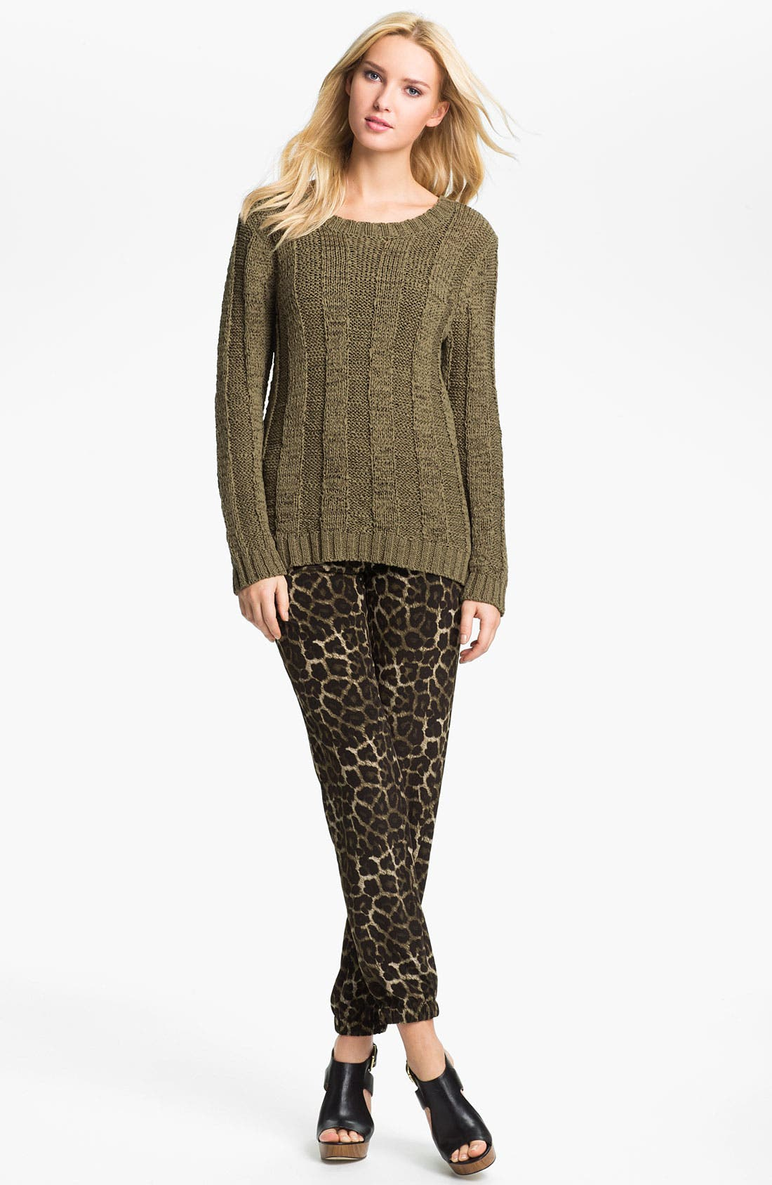 Alternate Image 3  - MICHAEL Michael Kors Leopard Print Pants