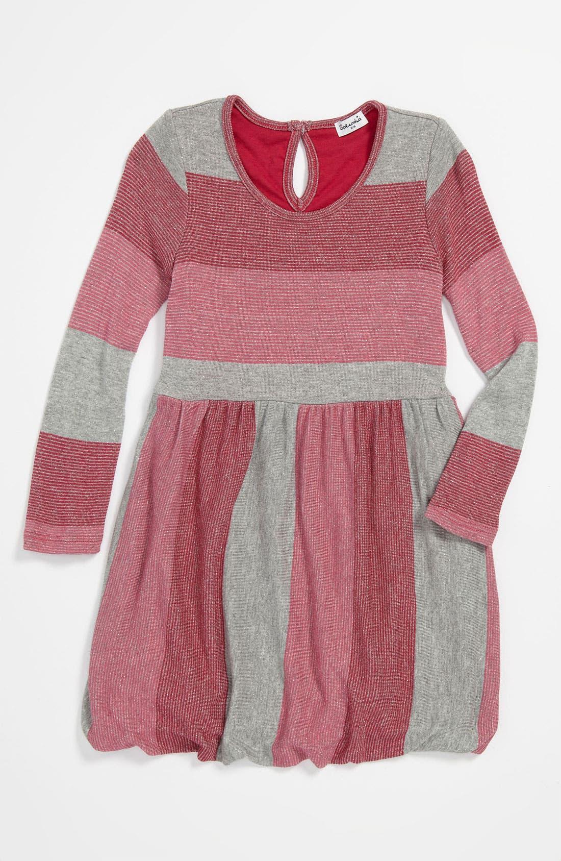 Alternate Image 1 Selected - Splendid Shimmer Stripe Dress (Little Girls)