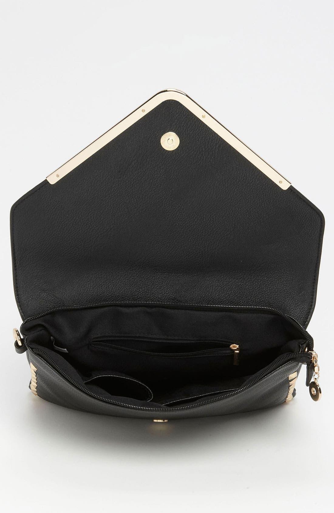 Alternate Image 3  - High Fashion Handbags Studded Envelope Clutch