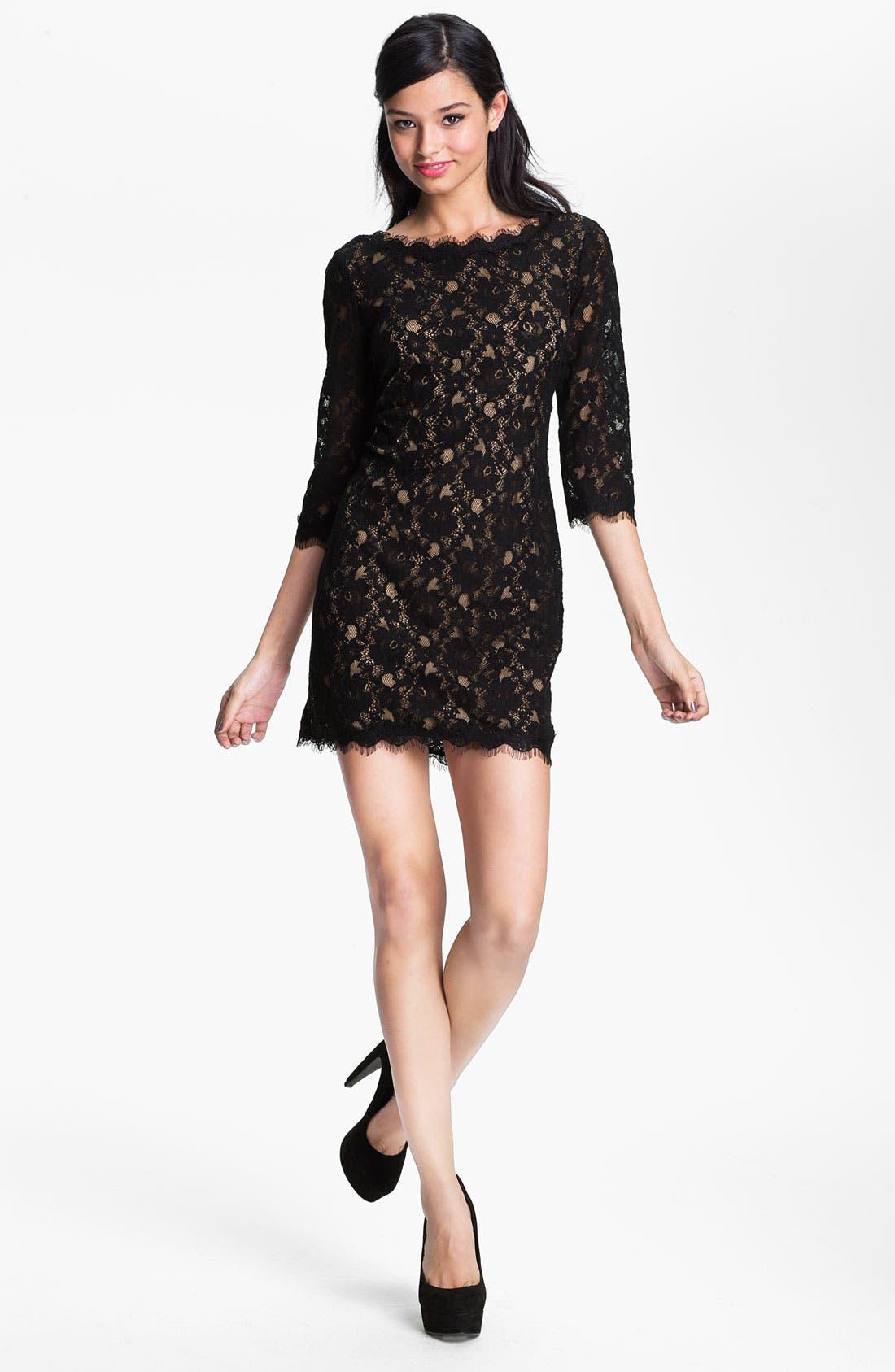 Main Image - Lush Lace Shift Dress (Juniors)