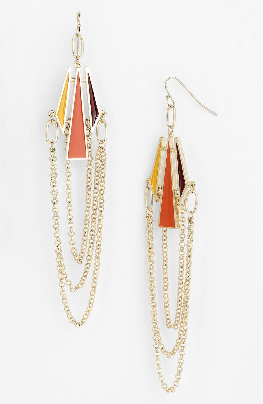 Alternate Image 1 Selected - Bonnie Jonas Enamel Chain Earrings