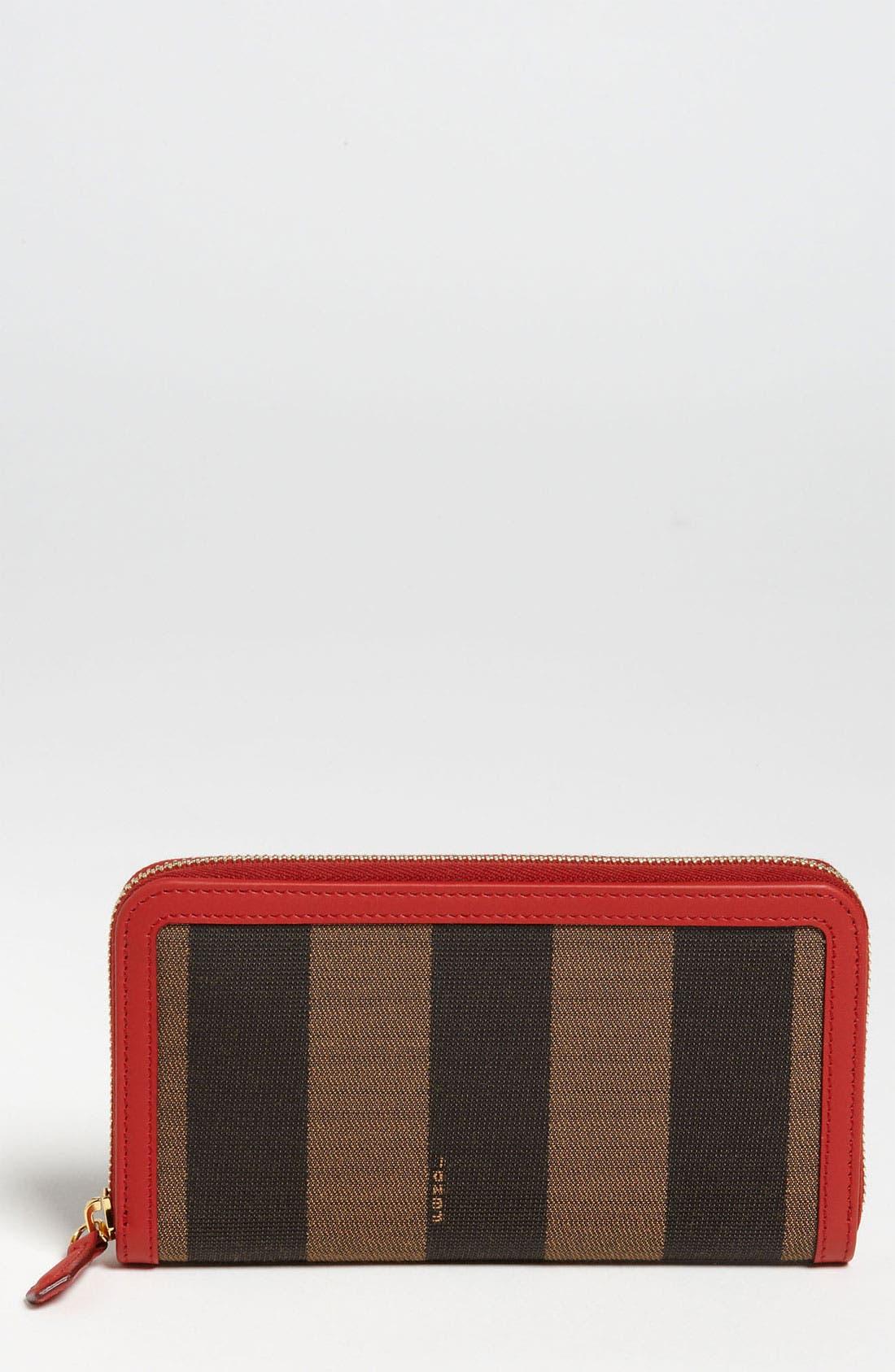 Main Image - Fendi 'Pequin' Zip Around Wallet