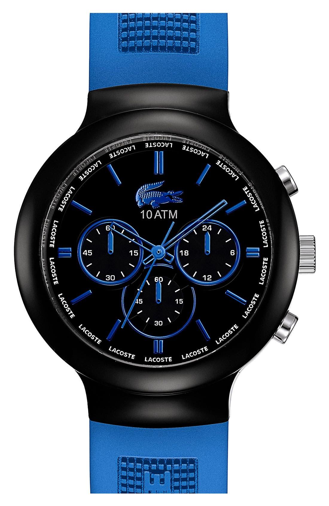 Alternate Image 1 Selected - Lacoste 'Boreno' Chronograph Silicone Strap Watch, 44mm