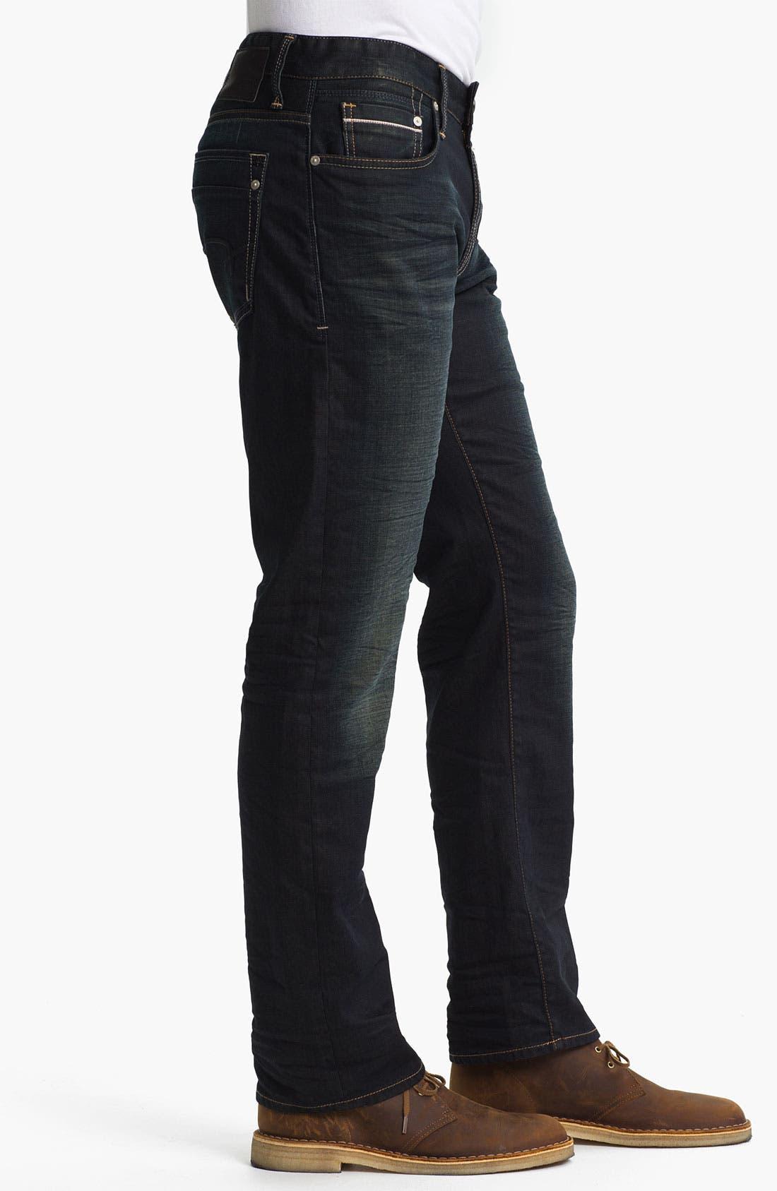 Alternate Image 3  - Mavi Jeans 'Zach' Straight Leg Jeans (Smoke White Edge)