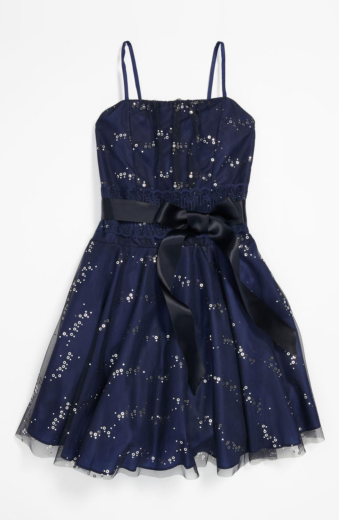 Main Image - Dorissa 'Laura' Sequin Dress (Big Girls)