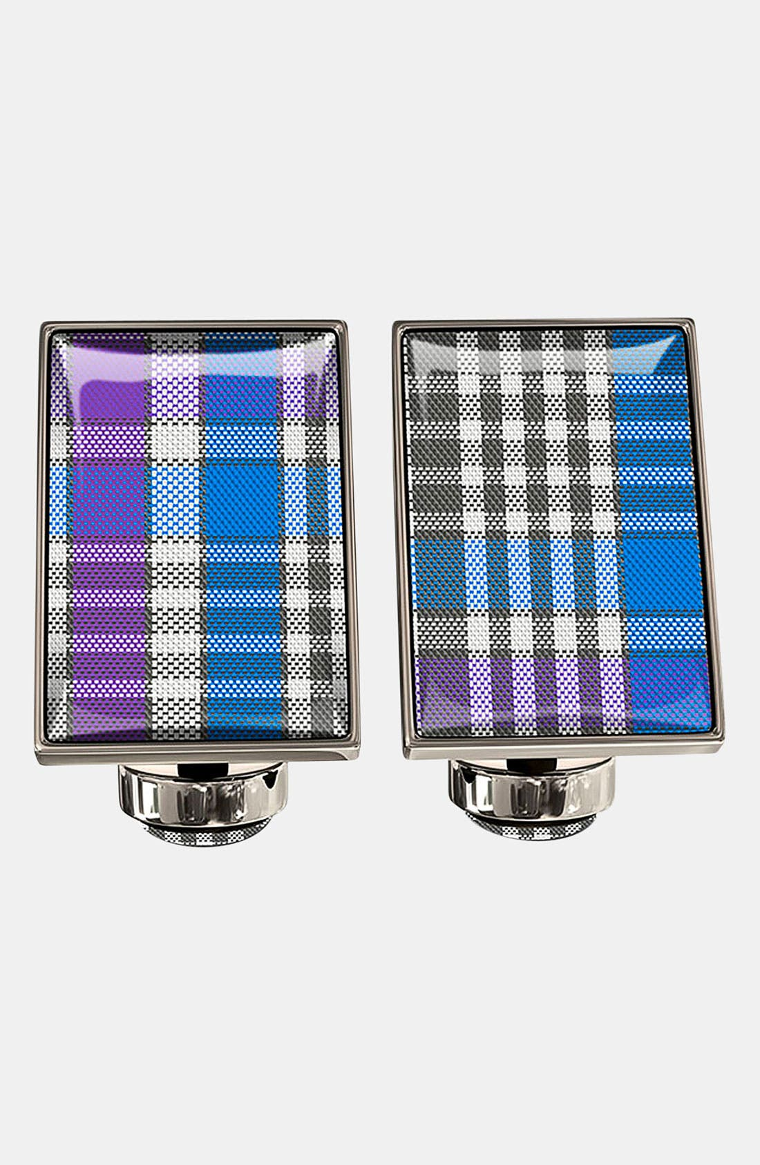 Main Image - Würkin Stiffs Plaid Rectangular Cuff Links