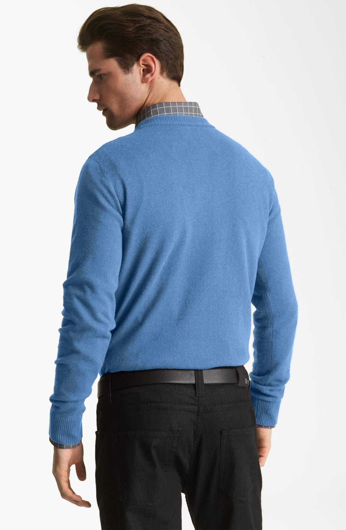 Alternate Image 2  - Armani Collezioni Crewneck Sweater