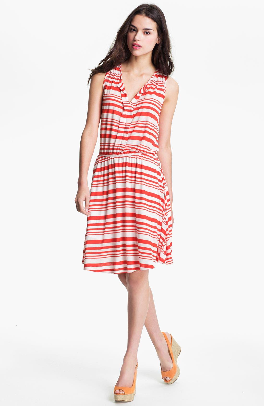 Main Image - Pleione Split Neck Sleeveless Dress