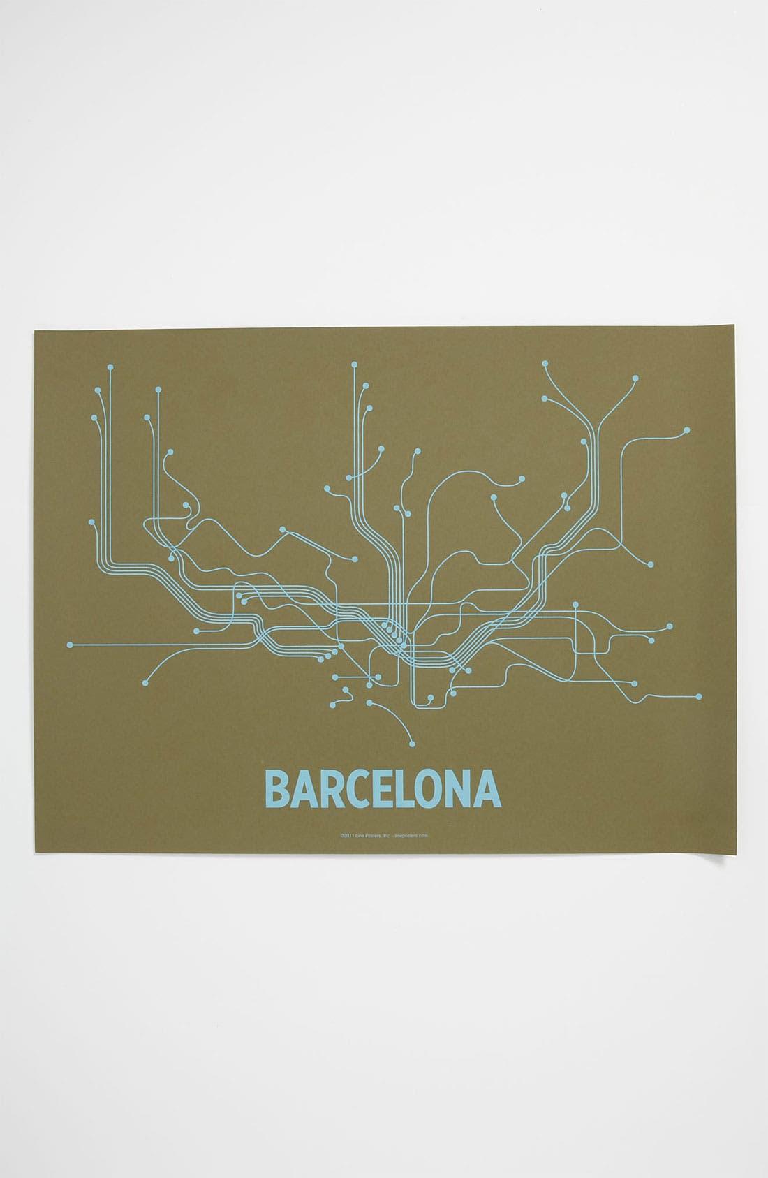 Alternate Image 1 Selected - Line Posters 'Barcelona Transit System' Print