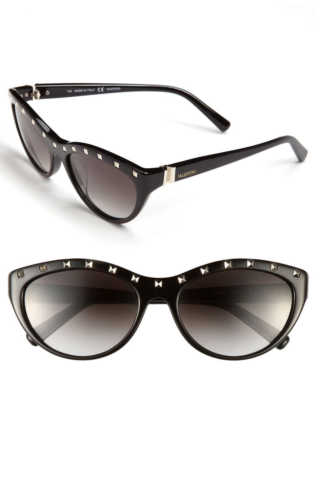 Alternate Image 1 Selected - Valentino 'Rockstud' 54mm Cat Eye Sunglasses